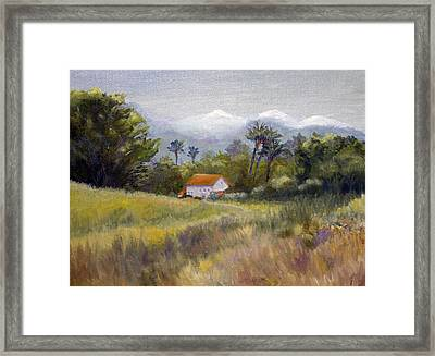 California Winter Framed Print by Jan Cipolla