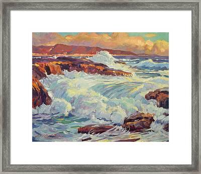 California's Coastline Framed Print by David Lloyd Glover