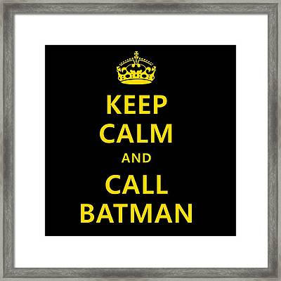Call Batman Framed Print by Elizabeth Coats