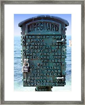 Call Box Framed Print