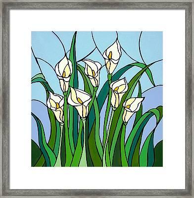 Calla Lilies Framed Print by JW DeBrock