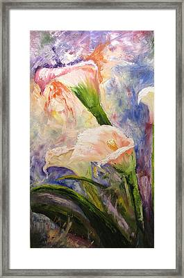 Calla Lillies Abstract Framed Print
