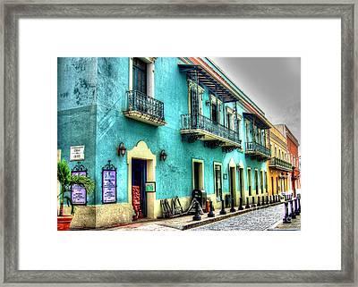 Calle Cristo Framed Print by Debbi Granruth