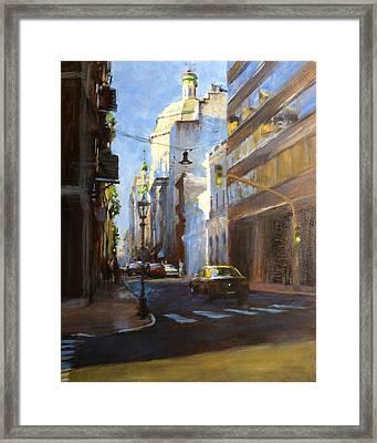 Calle Defensa Framed Print