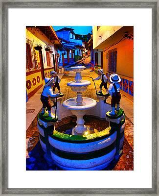 Calle Del Recuerdo Framed Print by Skip Hunt