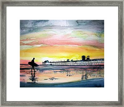 Framed Print featuring the painting Calling It A Day by Tom Riggs