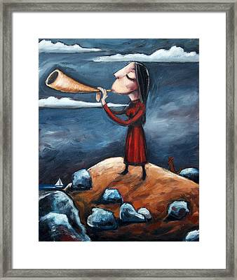 Framed Print featuring the painting Calling by Leanne Wilkes
