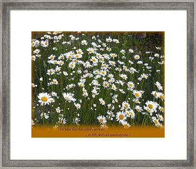Calling Framed Print by Marta Alfred