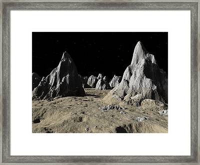 Callisto Spires,artwork Framed Print