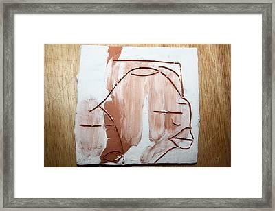 Calm - Tile Framed Print by Gloria Ssali