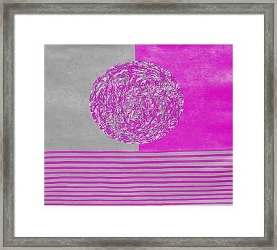 Calm And Chaos Framed Print