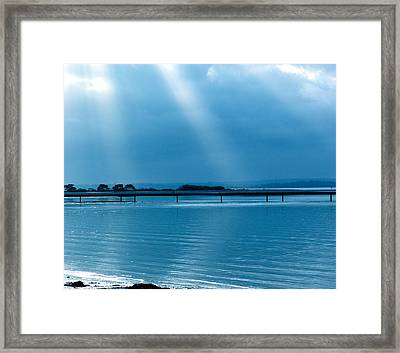 Calm Before The Storm Framed Print by Karen Grist