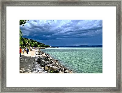 Framed Print featuring the photograph Calm Before The Storm by Rob Green