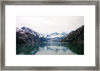 Calm Glacier Bay Framed Print