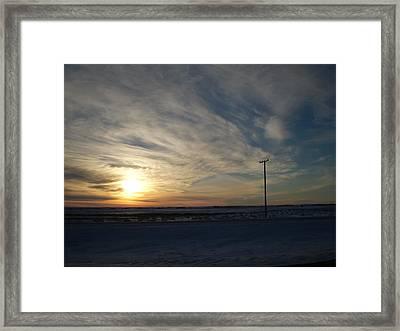 Calm Prairie Sunset Framed Print by Tracy Fallstrom