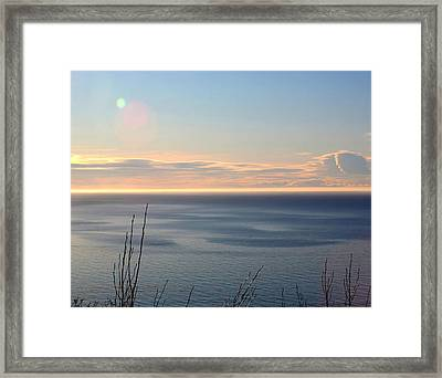 Framed Print featuring the photograph Calm Sea by Michele Cornelius