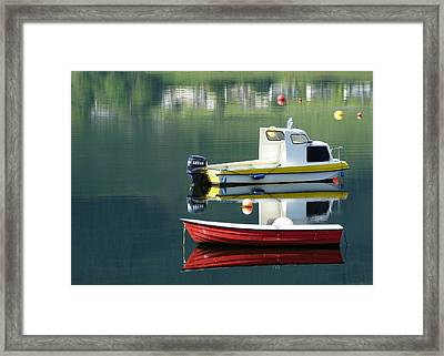 Framed Print featuring the photograph Calm Waters by Lynn Bolt