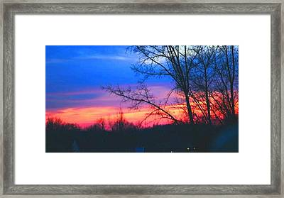 Calming Skies II A Framed Print
