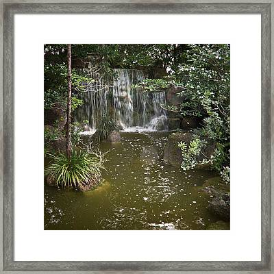 Calming Waterfall Framed Print
