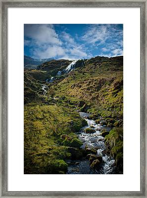 Calmness At The Falls Framed Print