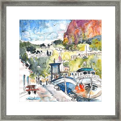 Calpe Harbour 05 Framed Print by Miki De Goodaboom