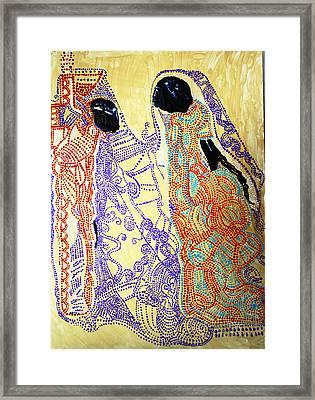 Calvary Framed Print by Gloria Ssali