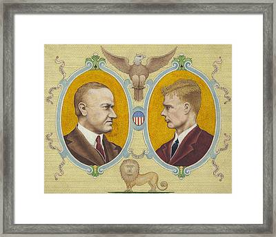 Calvin Coolidge And Charles Lindbergh Framed Print by International  Images