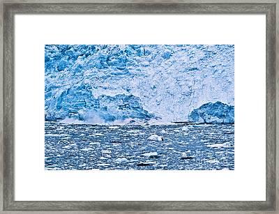 Calving Glacier Framed Print by John Greim