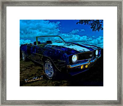 Camaro In Moonglow Framed Print