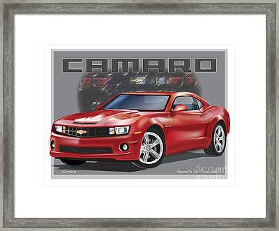 Camaro Framed Print by Kenneth De Tore