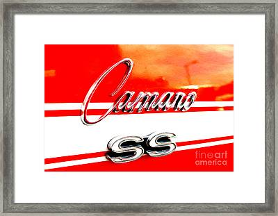 Framed Print featuring the digital art Camaro Ss Flank by Tony Cooper