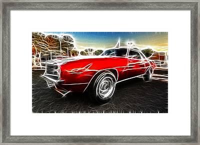 Camaro Z28 Fantasy Car Framed Print by Paul Ward