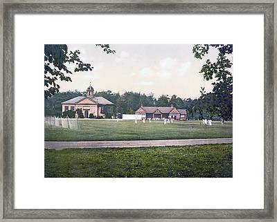 Camberley In Surrey - England - Cricket Ground At The Royal Military College Framed Print by International  Images