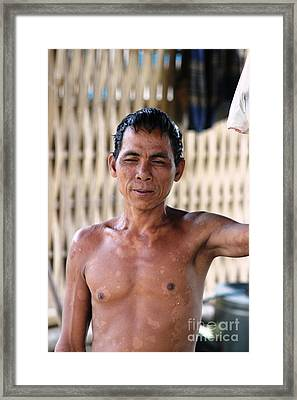 Framed Print featuring the photograph Cambodian Dignity by Nola Lee Kelsey