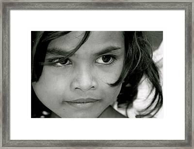 Cambodian Eyes Framed Print