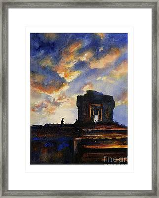 Cambodian Sunset Framed Print by Ryan Fox