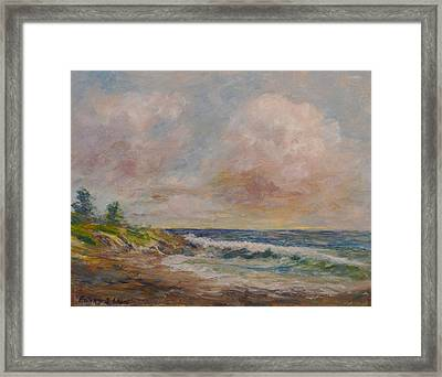Cambria Shore Framed Print