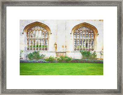 Cambridge Architecture Framed Print by Tom Gowanlock