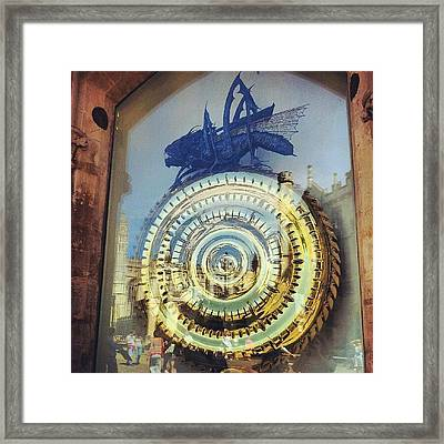 #cambridge #steampunk #clock Framed Print by Christelle Vaillant