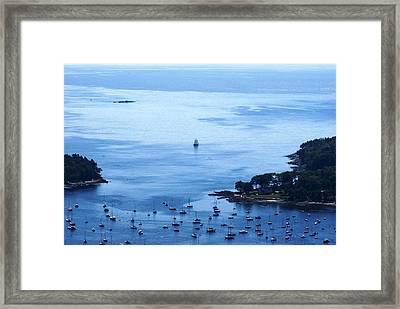 Camden Harbor Framed Print by Joe Faherty