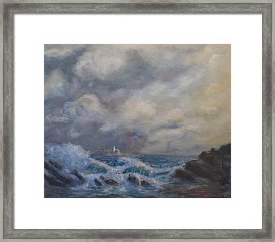 Camden Light Storm Framed Print