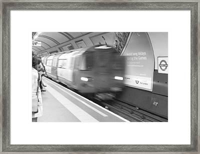 Camden Tube Framed Print by Kevin Bates