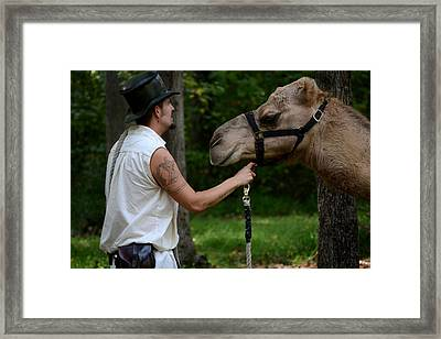 Camel Keeper Framed Print by Eamon Forslund