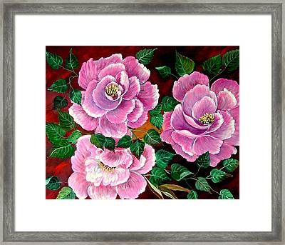 Camellias Framed Print