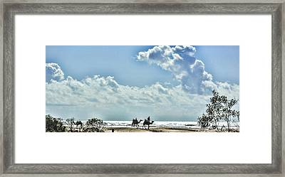 Camels Morocco Framed Print by Chuck Kuhn