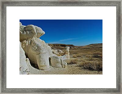 Camels On The Plains Framed Print by Stephen  Johnson