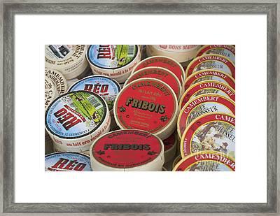 Camembert Cheeses Framed Print by Mark Azavedo