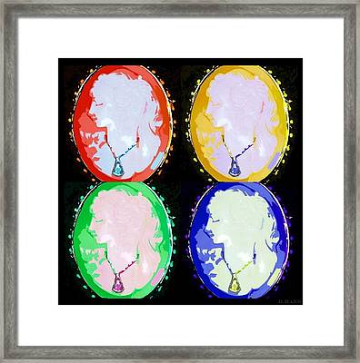 Cameo In Colors Framed Print by Rob Hans