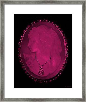 Cameo In Hot Pink Framed Print by Rob Hans