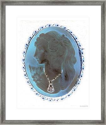 Cameo In Negative  Framed Print by Rob Hans